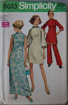 1960s Simplicity 8513 Vintage Maxi - Mini dress with pant suit I actually made that pant suit in Grade 8 sewing class!  was too big for me so I gave it to my sister Josie who wore it! by GreyDogVintage, $8.00