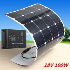 Sunpower 100W Solar Panel 100watt 18V Flexible Power Generator+ Solar Controller in Home & Garden, Home Improvement, Electrical & Solar   eBay