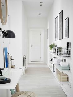 Grey / white and a cute kids room in a lovely Swedish space: