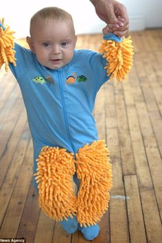 Your baby learns to crawl AND scrubs the floors! A genuinely sold piece of clothing...