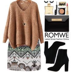 Romwe by oshint on Polyvore featuring moda, Balenciaga, GUESS, House of Harlow 1960, Lancôme, Dolce&Gabbana, MAC Cosmetics, Hermès and romwe