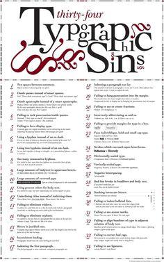 pecados tipograficos