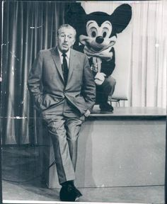 adisneytattoo:  Walt caught off guard with Mickey Mouse