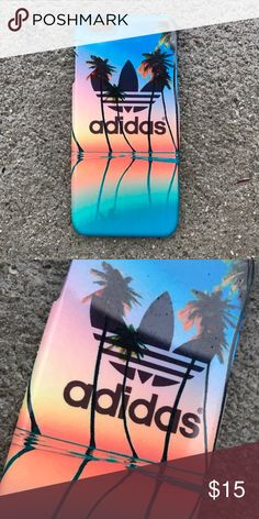 Adidas Sunset Palm Trees Case for any iPhone!! Brand New in the packaging ! High Quality dope printed iPhone case !3D printed design all around the case. Price is firm unless looking for bundle deals. Then message me! Same or next day shipping with USPS Tracking provided! ***Message me or comment before purchase of the phone size you have, or else I will send the size in the title*** ALL CASES AVAILABLE FOR IPHONE 6/6S , 6 Plus / 6S Plus, iPhone 7, and iPhone 7 Plus! Much more dope desi