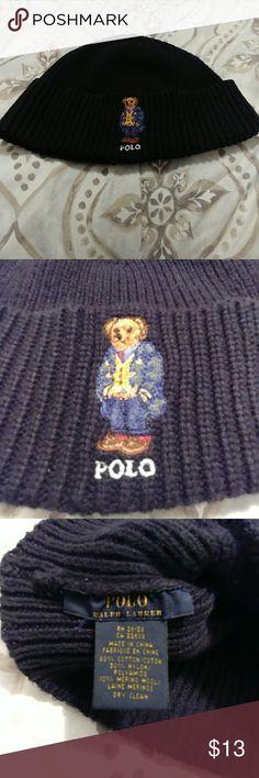 Men's Polo Ralph Lauren Beanie Men's Polo Ralph Lauren Beanie. Good Used Condition. Dark Navy Color. Polo by Ralph Lauren Accessories Hats
