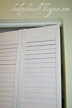 DIY Project Parade: Closet Doors - How to Turn BiFold Doors into French Doors - DIY Show Off ™ - DIY Decorating and Home Improvement Blog