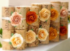 Another way to do the place card holders. No cutting but you need 3 corks each holder... super cute but can we drink that much? haha