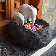 Buy Large Elephant Decor Online   Large elephant sculpture   Kaliru Uruli - Greymode