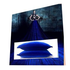 #Luxurious #cushions made in Royal Blue #velvet. Click to visit our shop.