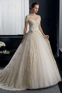 Tulle, Satin And Lace Trendy Bridal Gown, Rs 25000 /piece, Ashias Wedding Gowns With Sleeves, 2016 Wedding Dresses, Bridesmaid Dresses, Bridal Lehenga, Bridal Gowns, Ball Dresses, Ball Gowns, Dream Wedding, Wedding Stuff