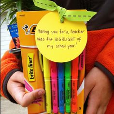 Last Day Of School Teacher's Gift: I combined this with a colorful Perennial for my kiddo's awesome teacher!
