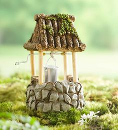 Miniature Fairy Garden Wishing Well is a cute and perfect way to add a little extra magical charm to your fairy garden!