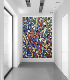 large canvas wall art abstract, large abstract painting original, colorful abstract painting on canvas, oversized wall art abstract Large Canvas Wall Art, Abstract Canvas Art, Pollock Paintings, Oversized Wall Art, Colorful Paintings, Original Paintings, Etsy, Abstract