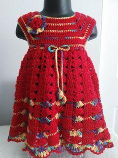 Crochet baby dress and headband.Baby girl crochet dress. Baby girl Gift by FAYSFABULOUSCROCHET on Etsy