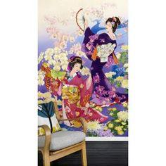 Danse avec les orchidées et les chrysanthèmes