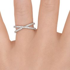 Bisou Diamond Ring in 18K White Gold - Brilliant Earth