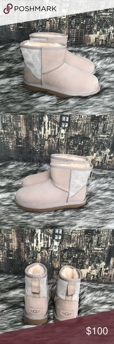 ✨New Women's UGG Classic Mini II Boot in Ceramic ✨Brand New Women's UGG Classic Mini II Boot in Ceramic.  🔷 Nubuck with Snake detail in back panel.  🔷Water resistant 💦☔️ 🔷 New without tags or box.  🔷 100% authentic  🔷 No trades UGG Shoes Ankle Boots & Booties