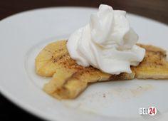 Десерт из запеченных бананов.                                                                          Ингредиенты: 5 бананов 300-400 гр сливочного мороженого 100 гр песочного печенья 25 гр шоколада 1 лимон 3 ст.л. сахара 1 ст.л. сливочного масла Рецепт приготовления десерта из запеченных бананов: Сперв�