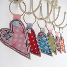 FABRIC HEART KEY RING madeby HONEYPIPS | madebycompany.com