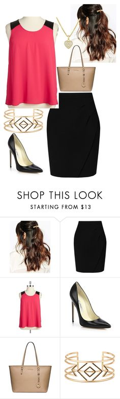 """Untitled #138"" by howard-hornets24 ❤ liked on Polyvore featuring Suzywan DELUXE, L.K.Bennett, BB Dakota, Brian Atwood, Michael Kors, Stella & Dot and plus size clothing"
