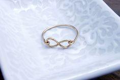The Infinity Ring from Bohemian Honey $10.00, via Etsy.
