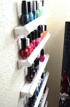 Diy nail polish holder if you are looking for a quick and easy way diy storage idea see more jolynne carlson this is me nail polish display solutioingenieria Gallery