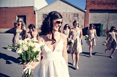 patterned bridesmaid dresses   Patterned Dresses. Bridesmaid dresses don't have to be solid ...