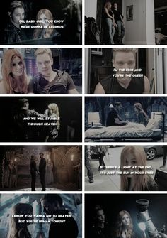 Clary and Jace tumblr #shadowhunters #clace