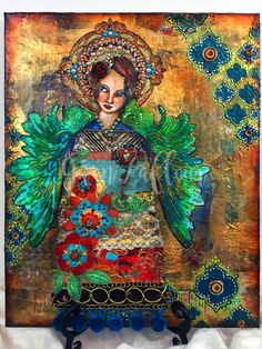 Of Angels & Icons - Mixed Media Canvas - Gwen Lafleur