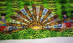 Vintage Atelier Versace  Mutil Color Silk Scarf Rare #AtelierSilkVersace #Scarf #FrameitforArt
