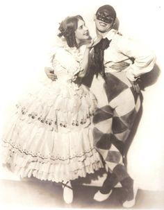 "Lydia Lopokova and Vaslav Nijinsky as Colombine and Arlequine in ""Carnival"""