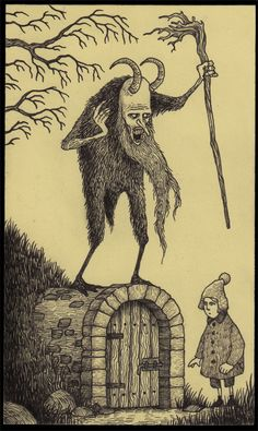 I love the quietly creepy Post-It Monsters!    From the Don Kenn Gallery