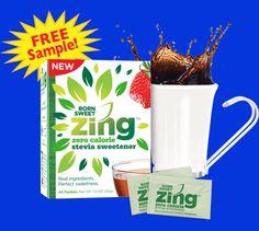 Free Zing Stevia Sweetener Sample