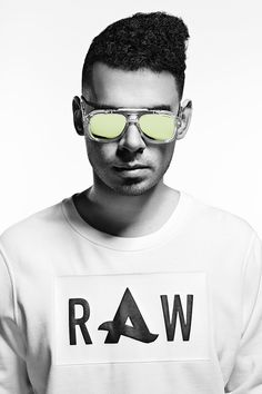 G-Star RAW Eyewear x Afrojack: Specially coated to achieve the DJ's favored mirrored finish.