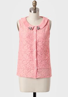 Pink Lemonade Tiered Lace Blouse at #Ruche @Ruche