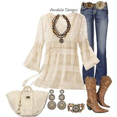 New Cowboy Boats Outfit Winter Jeans Country Girls Necklaces 38 Ideas Country Style Outfits, Country Girl Style, Country Fashion, My Style, Mode Outfits, Casual Outfits, Fashion Outfits, Womens Fashion, Trajes Country