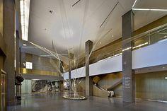 "Lighting design for Richard Lippold's ""Flight"" sculpture"