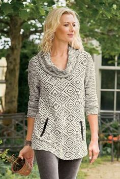 Illusion Tunic I - Geometric Tunic, Textured Tunic | Soft Surroundings