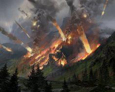 ArtStation - Cities in Ruin Expansion, Frej Agelii Fantasy Art Landscapes, Fantasy Landscape, Apocalypse Landscape, Eldritch Horror, Fantasy Concept Art, Sketch 2, Historical Art, Magic The Gathering, Fantasy World