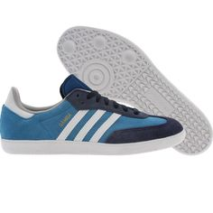 best sneakers ff3b7 72606 Adidas Samba shoes in dark royal, white, and dark indigo