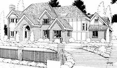 Eplans Tudor House Plan - Elegant French Country Manor - 4722 Square Feet and 4 Bedrooms(s) from Eplans - House Plan Code HWEPL07524