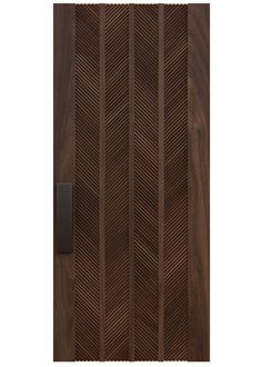 BLAKE A custom door design with Lecate's variegated texture set in a classic chevron pattern on a rich select grade wood panel serve to make a statement of enduring elegance and luxury. Rendering shown in walnut. Wooden Front Door Design, Main Entrance Door Design, Door Gate Design, Door Design Interior, Home Room Design, Window Design, Wooden Doors, House Main Door Design, Exterior Design