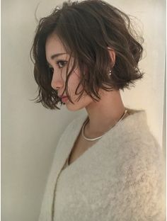 38 classic short curly hair styles, let's take a look! Girl Short Hair, Short Curly Hair, Wavy Hair, Short Hair Cuts, Hair Bangs, Short Wavy Bob, Permed Hairstyles, Short Hairstyles For Women, Pretty Hairstyles