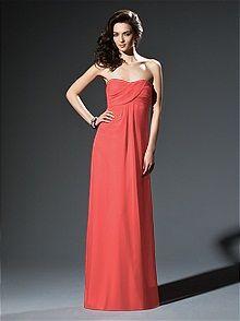 Dessy Collection #orange #bridesmaid #dress