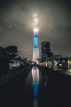 Skytree at night (x-post crow /r/cyberpunk) [1280x1920]