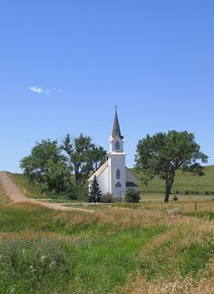Lutheran Church Sims, North Dakota - I have driven by this a million times.  There is another one on the left side of the road about 20 miles away.