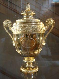 Wimbledon Mens Trophy. Get your FREE DOWNLOAD of the SportsQuest app at www.sportsquestapp.com @SportsQuestApp