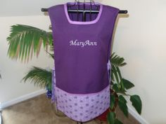 Full Apron Monogrammed  Ties on the Sides by MariesClassicHome, $30.00