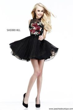 Sherri Hill Short Homecoming Dress 21198 at Peaches Boutique
