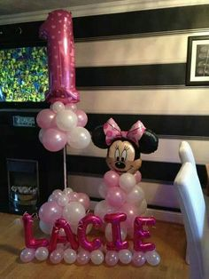 #Minnie  #theme #balloons #bellissimoballoons